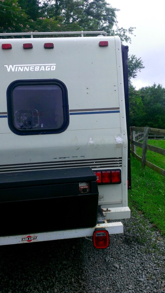 No more ladder on the back of the camper