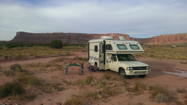 Boondocking in the National Forest near Arches National Park