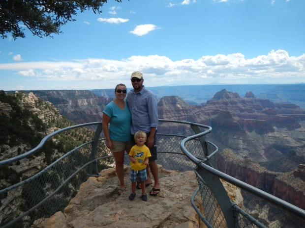 Our family at the rim of the grand canyon