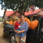 Sully and Natalie at the pumpkin patch near Prescott