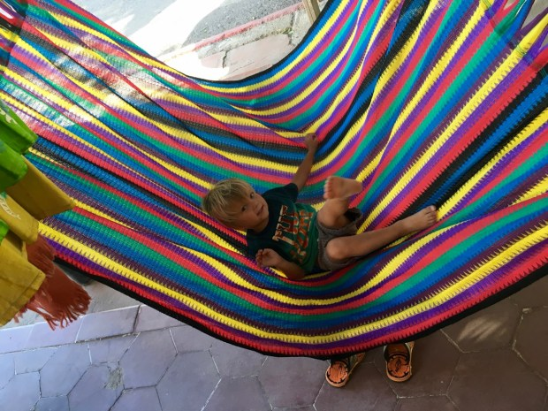 Sully tested out a hammock in Mulegé