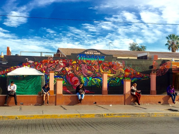 The Madero Market mural