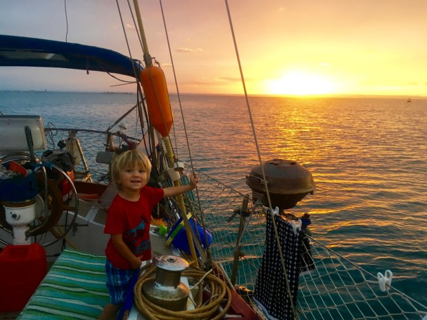 Our last sunset of 2015 Aboard Astraea