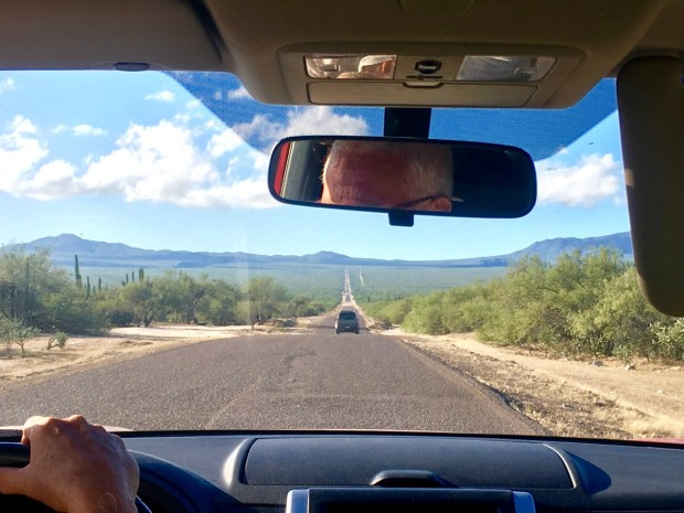 The long, straight road to La Ventana