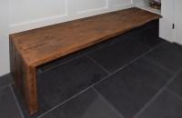 Rustic mudroom bench | Abodeacious