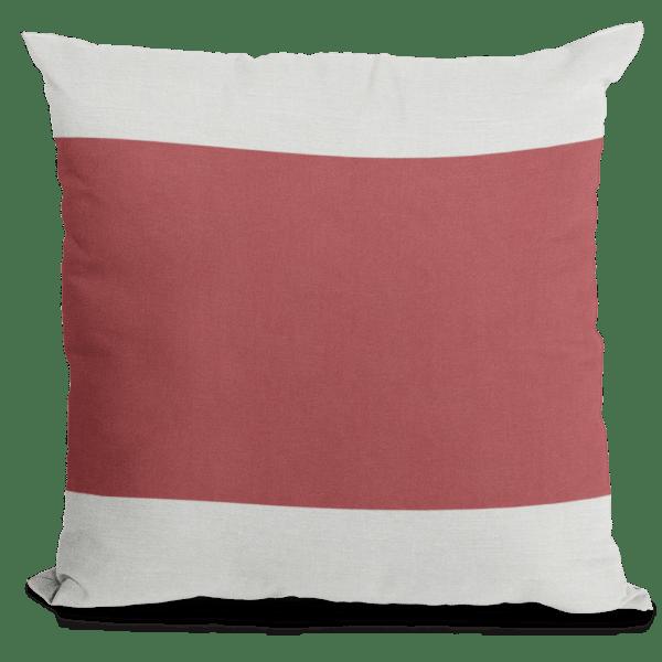 Red Block Pillow
