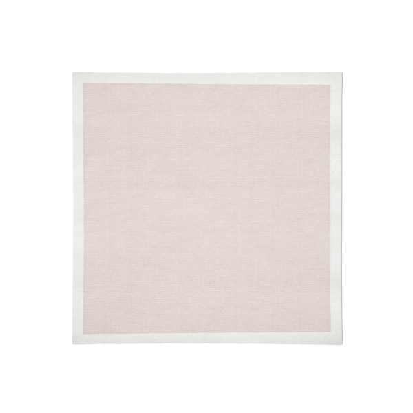 Pink with white Linen Napkin Flat