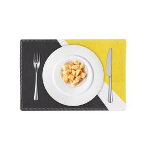 Spotlight Placemat - black white yellow