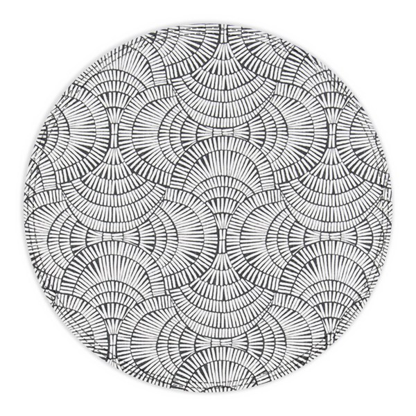 Black and White Round Placemat-No Plate