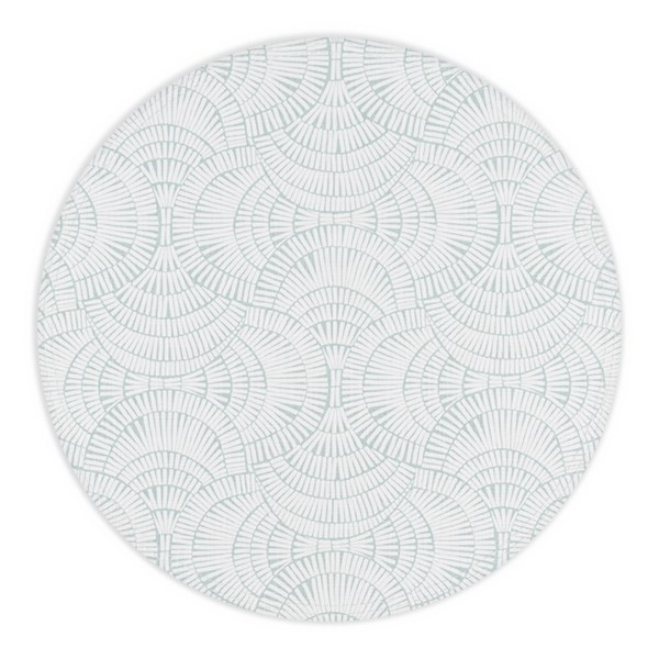 Cyan and White Circle Placemat with no plate