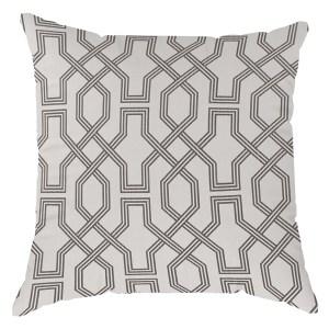 Mason-White and Black Pillow