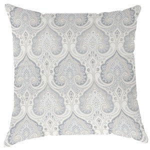 Grey Paisley Large Scale Pillow