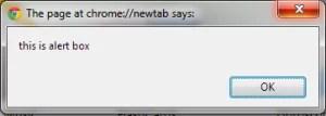 JavaScript Alert in WebDriver