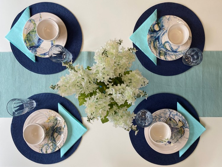 Breakfast Nook Table Setting Top View