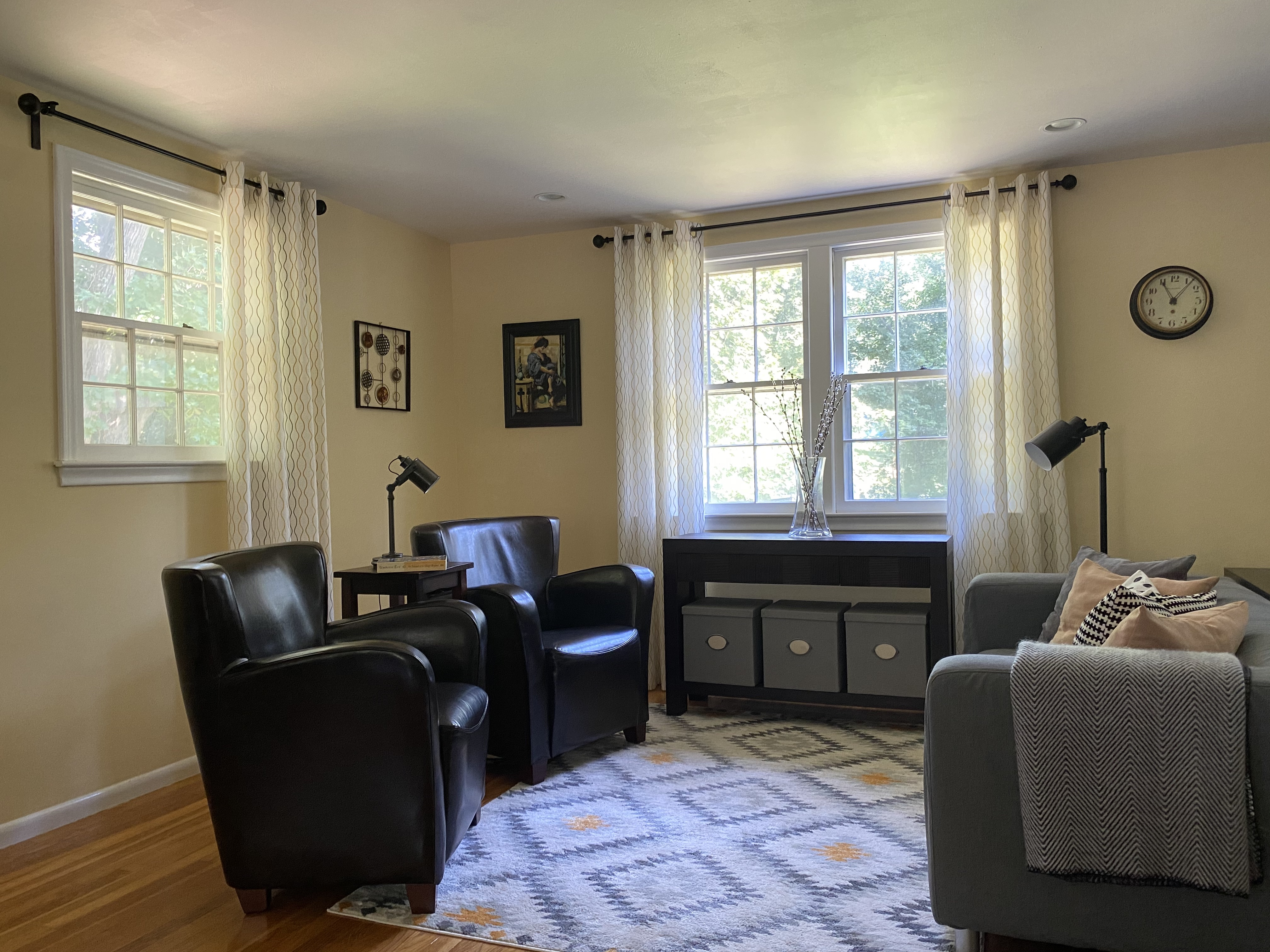 Transitional Spacious Living Room Social Area