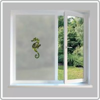 Sea Horse Custom Made Frosted Window Film from Abode