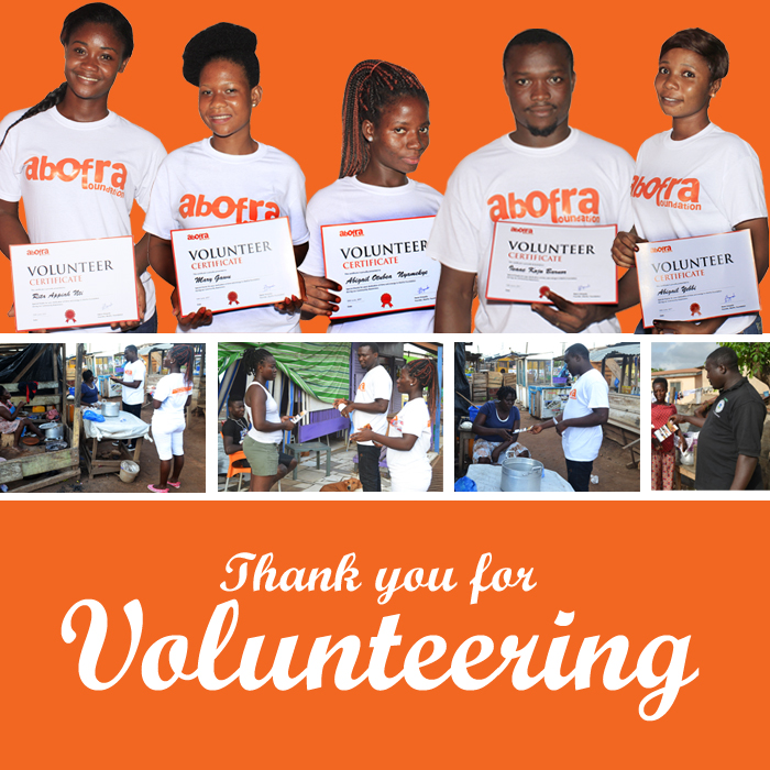 Volunteers received certificates for being part of a good cause.