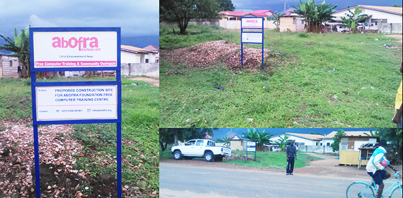 The land for the buidling of our proposed Abofra ICT Training Centre.