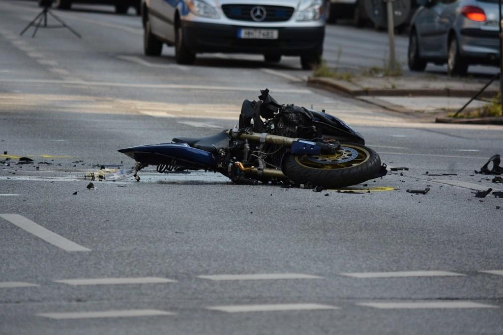 El reporte policial en un accidente de moto