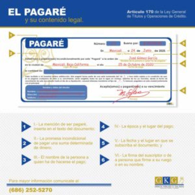 Abogados GKG El Pagaré y su contenido