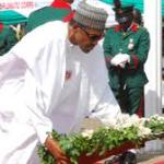 Buhari, Osinbajo, others lay wreaths to honour fallen heroes