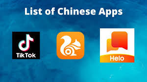 logos of banned Chinese Apps