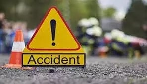 car accident on an expressway