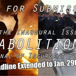 Abolition's Inaugural Issue – Call for Submissions: Due Jan. 29
