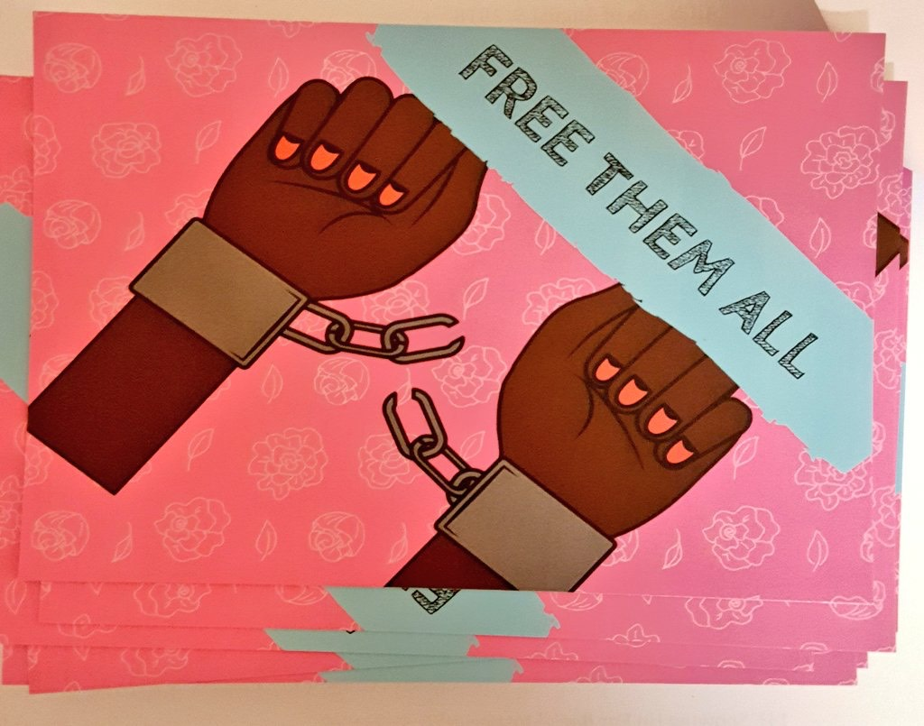 Free Them All - art by Fizah Omar