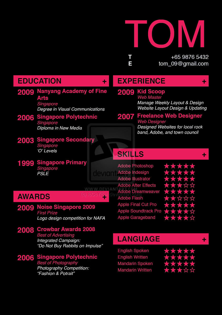 creative resume  Abominable Ink by Fazooli
