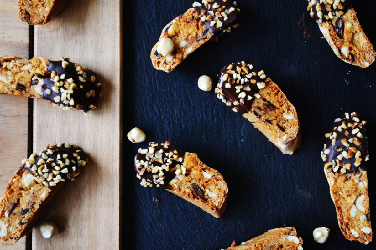 Date, Hazelnut, Chilli, and Chocolate Biscotti - Bake Off Bake Along Week 2