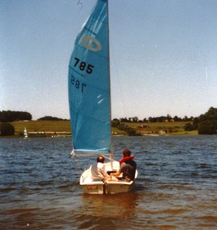 Picture of small sailboat on lake