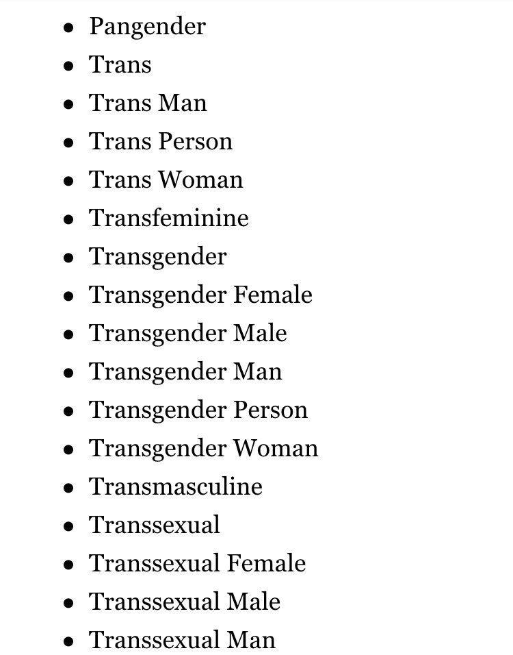 transgenre et cisgenre
