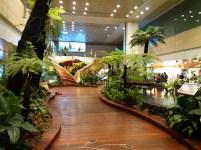 Jardim no aeroporto Changi, em Singapura