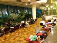 Lugares próprios para dormir no aeroporto Changi, em Singapura