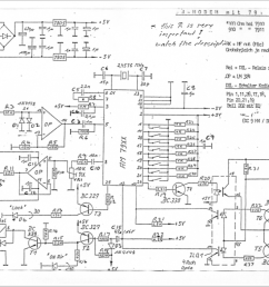 schematic of the circuit using the am7910 chip  [ 1024 x 783 Pixel ]