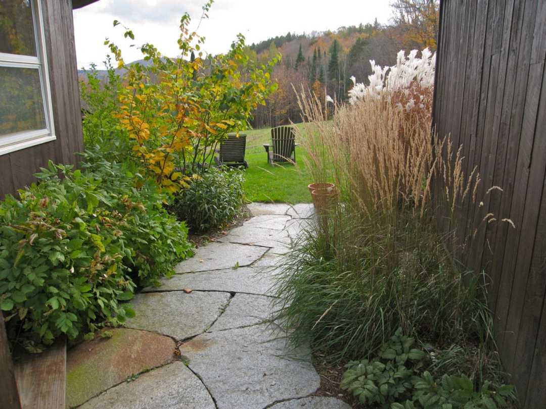Thistle Hill - Brattleboro VT  - Landscape Design - walkway