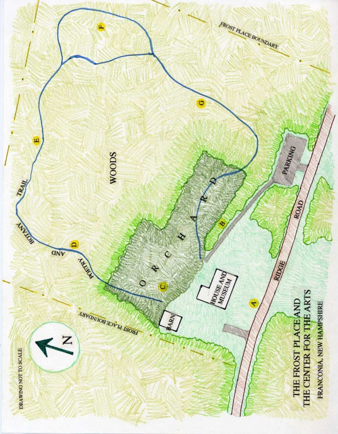 Landscape Design at the Frost Place in Franconia, NH - plan
