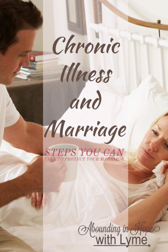 Husband comforting his sick wife