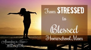 How to Go From a Stressed to a Blessed Homeschool Mom