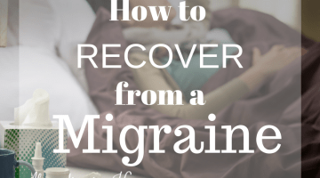 How to Recover From a Migraine