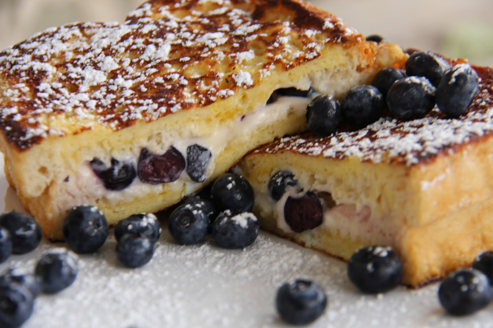 Blueberry Cream Cheese Stuffed French Toast A Bountiful
