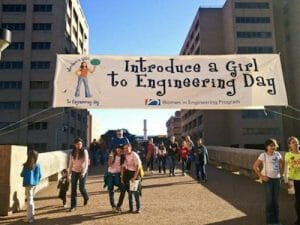 Image of Introduce a Girl to Engineering Day banner.