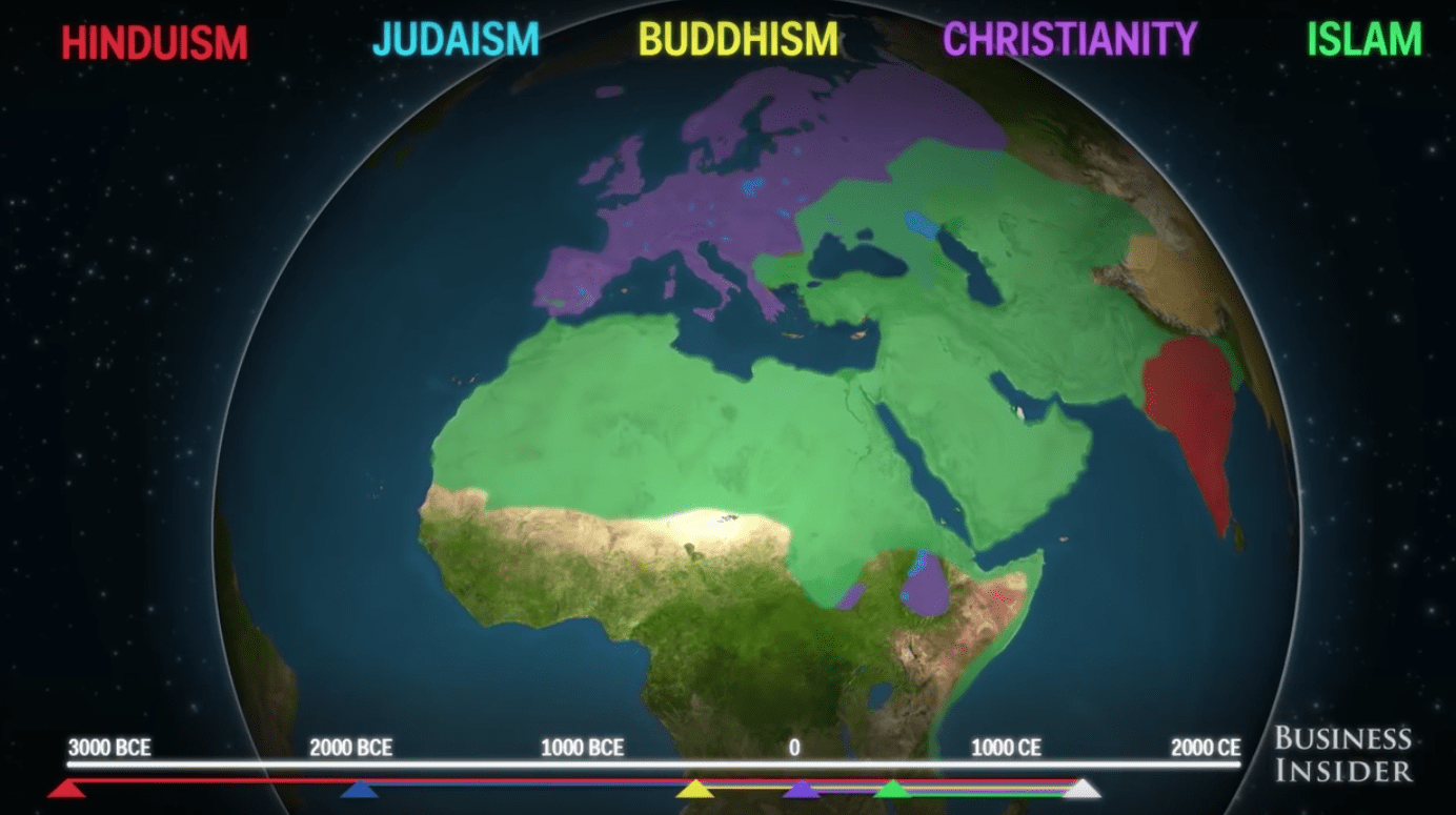 An Animated Video Showing The Spread Of Religion