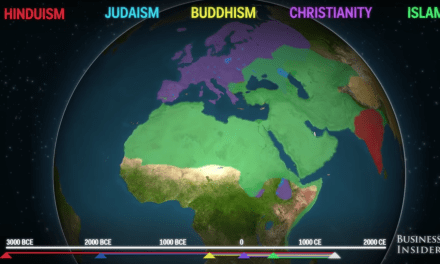 An Animated Video Showing the Spread of Religion Throughout History