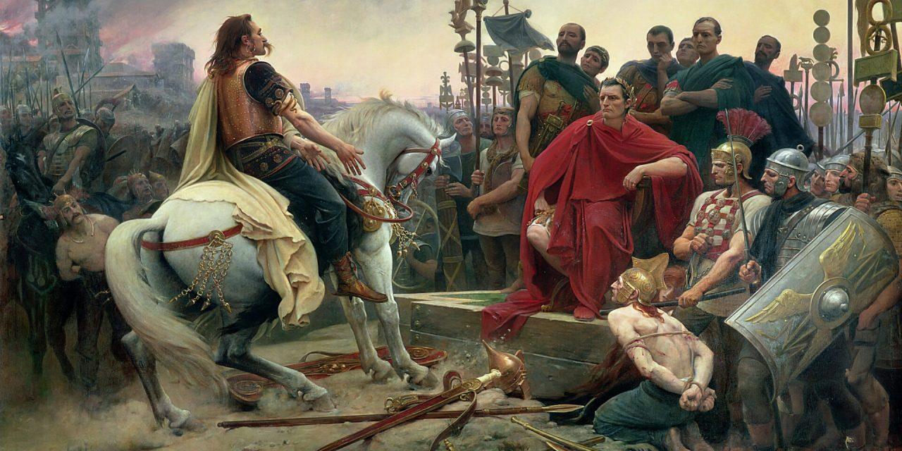 The Gallic Chieftain Vercingetorix and His Famous Revolt Against Caesar