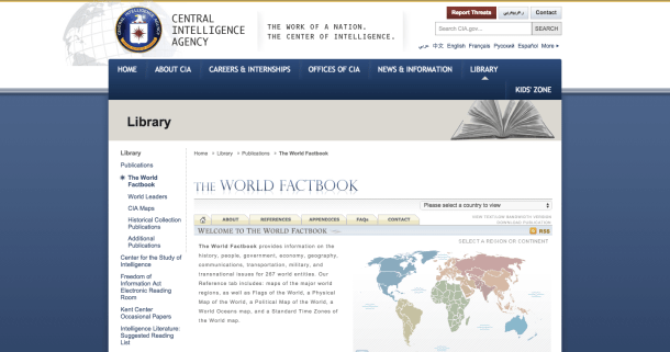 The World Factbook databases