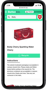 Betterbin App Recycle Screenshot
