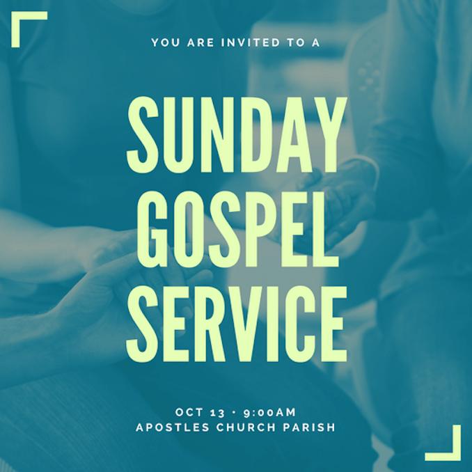 invitation to church service