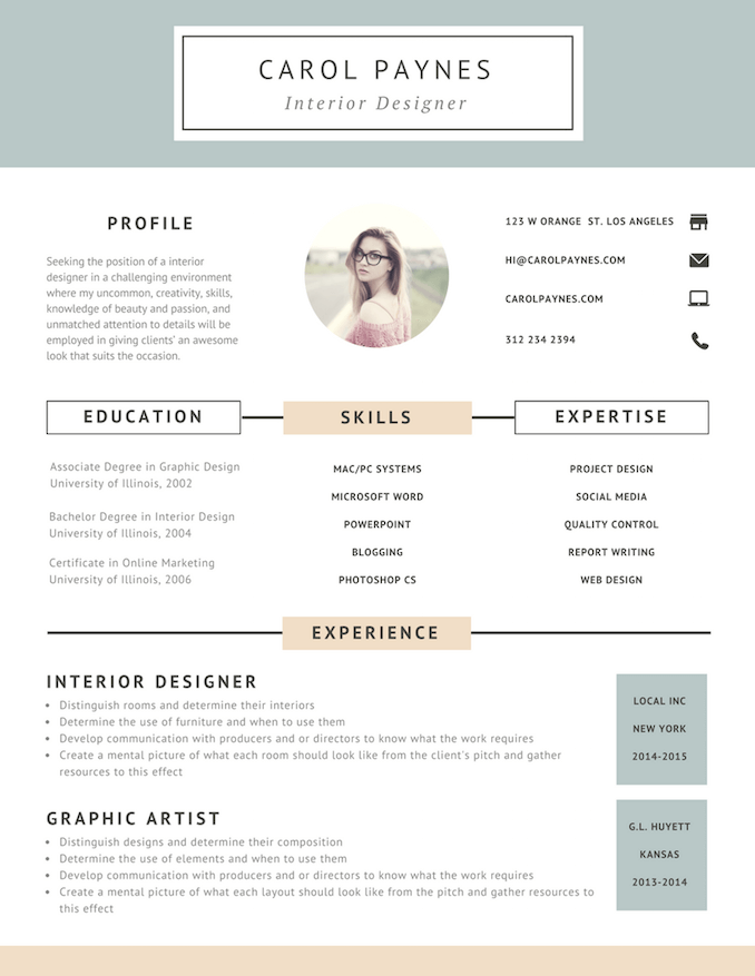 Free Online Resume Maker Canva